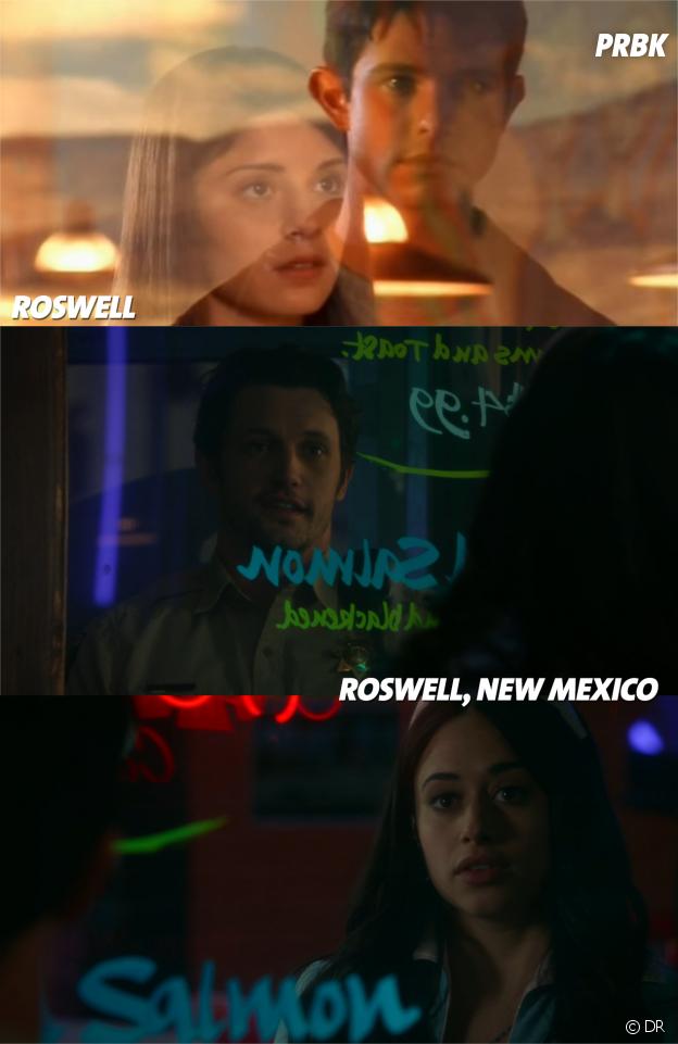 Roswell, New Mexico : une scène en rappel du générique de Roswell
