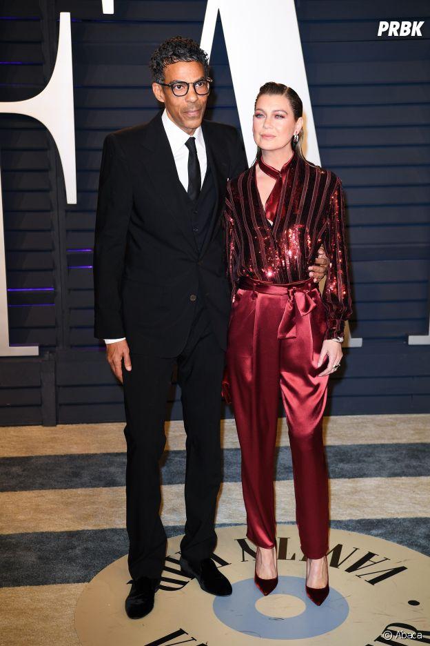 Ellen Pompeo et son mari Chris Ivery en février 2018
