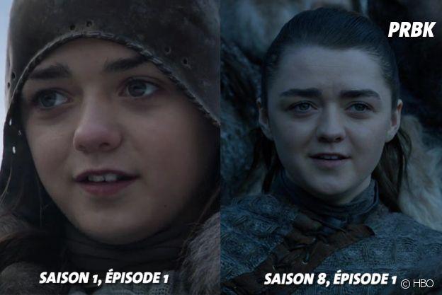 Game of Thrones : Maisie Williams (Arya) au début de la série VS aujourd'hui