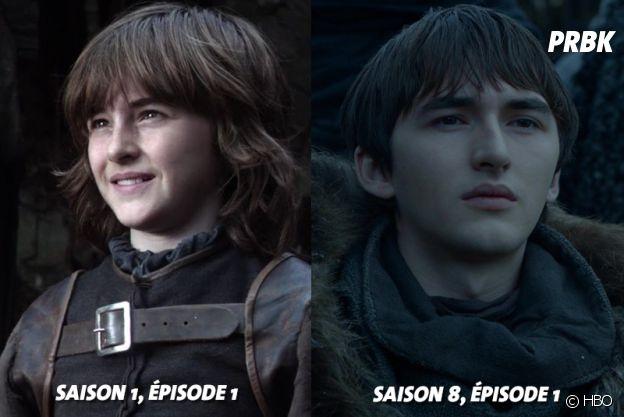 Game of Thrones : Isaac Hempstead-Wright (Bran) au début de la série VS aujourd'hui