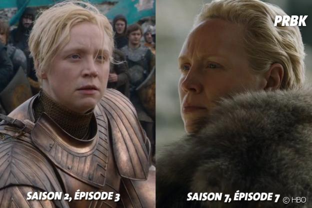 Game of Thrones : Gwendoline Christie (Brienne) à ses débuts dans la série VS aujourd'hui