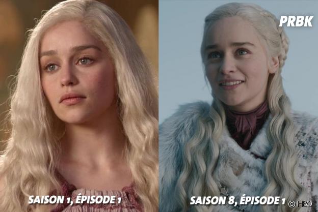 Game of Thrones : Emilia Clarke (Daenerys) au début de la série VS aujourd'hui