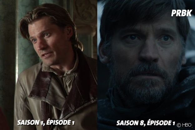 Game of Thrones : Nikolaj Coster-Waldau (Jamie) au début de la série VS aujourd'hui