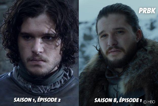 Game of Thrones : Kit Harington (Jon Snow) au début de la série VS aujourd'hui