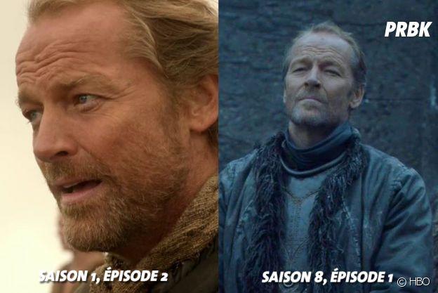 Game of Thrones : Iain Glenn (Jorah) au début de la série VS aujourd'hui