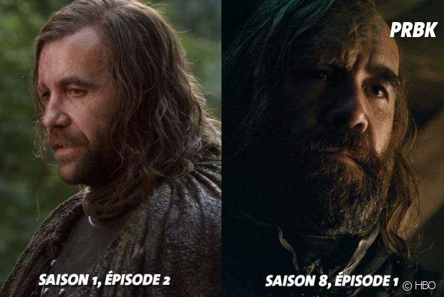 Game of Thrones : Rory McCann (Le Limier) au début de la série VS aujourd'hui