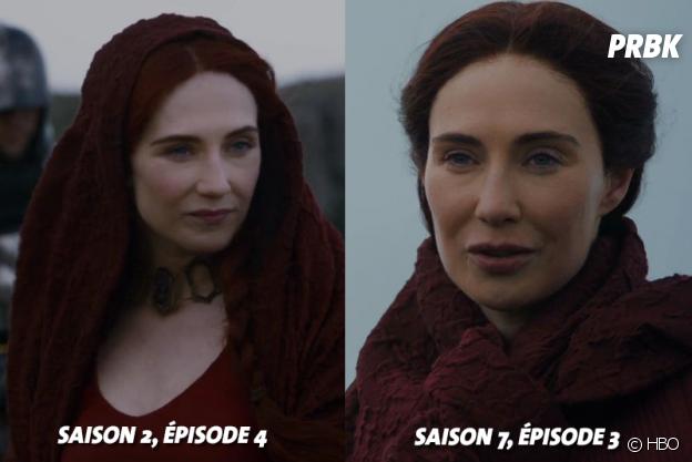 Game of Thrones : Carice Van Houten (Melissandre) à ses débuts dans la série VS dans la saison 7