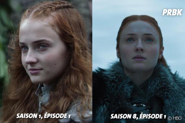 Game of Thrones : Sophie Turner (Sansa) au début de la série VS aujourd'hui