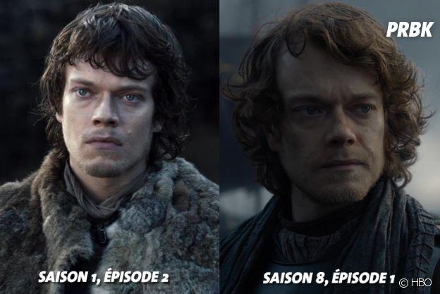 Game of Thrones : Alfie Allen (Theon) au début de la série VS aujourd'hui