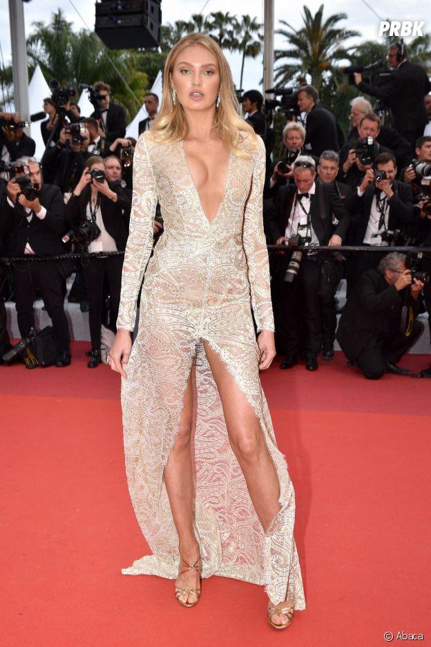Romee Strijd sur le red carpet, à l'ouverture de la 72ème édition du festival de Cannes