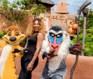 Serena Williams à Disneyland Paris pour le Festival du Roi Lion & de la jungle
