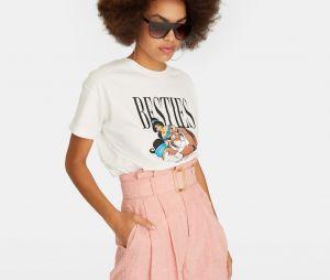 Stradivarius x Disney : le T-shirt avec Jasmine et Rajah