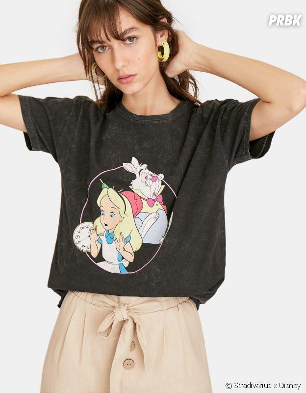 Stradivarius x Disney : le T-shirt avec Alice au Pays des Merveilles