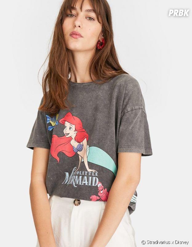 Stradivarius x Disney : le T-shirt avec La Petite Sirène