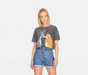 Stradivarius x Disney : le T-shirt avec La Belle et le Clochard