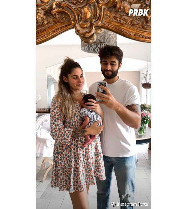 Jesta et Benoit dévoilent leurs premières photos de famille craquantes avec Juliann