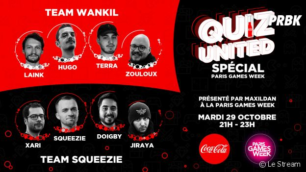 Quiz United by Coca-Cola à Paris Games Week : les équipes