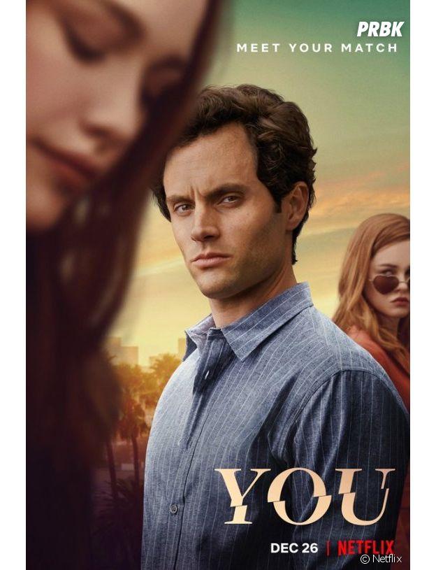 You saison 2 : l'affiche avec Victoria Pedretti, Penn Badgley et Ambyr Childers