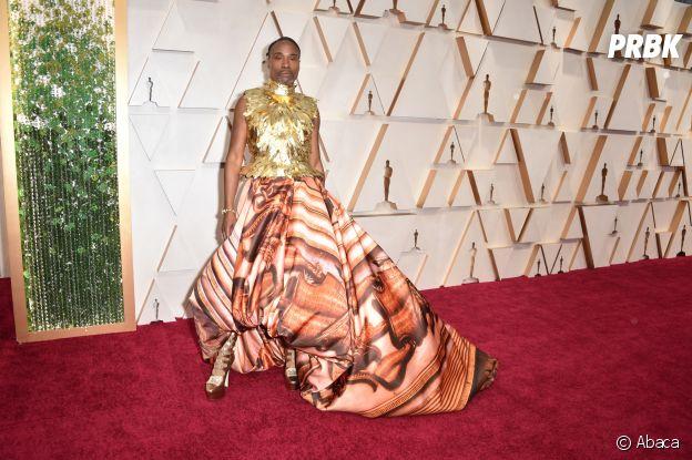 Billy Porter sur le red carpet de la 92ème cérémonie des Oscars, ce dimanche 9 février 2020 à Los Angeles
