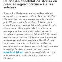 Mariés au premier regard : une ex-candidate réagit aux salaires dévoilés par un candidat anonyme