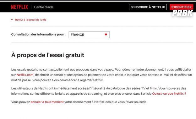 Netflix : fini le mois gratuit, la plateforme supprime sa période d'essai