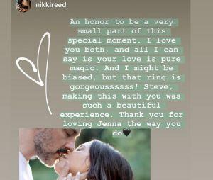Jenna Dewan fiancée à Steve Kazee : l'actrice et danseuse dévoile la bague de fiançailles, réalisée par son futur mari et Nikki Reed