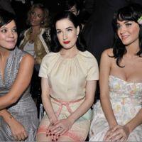 Lily Allen ... soutenue par Katy Perry et Justin Bieber