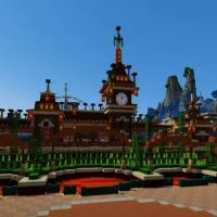 Disneyland Paris version Minecraft : une réplique magique du célèbre parc d'attractions