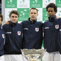 Finale de la Coupe Davis 2010 ... 1-0 pour la France face à la Serbie après la victoire de Gael Monfils