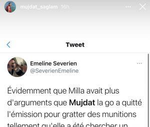 Milla Jasmine affiche Mujdat avec des messages de la fille sur Twitter