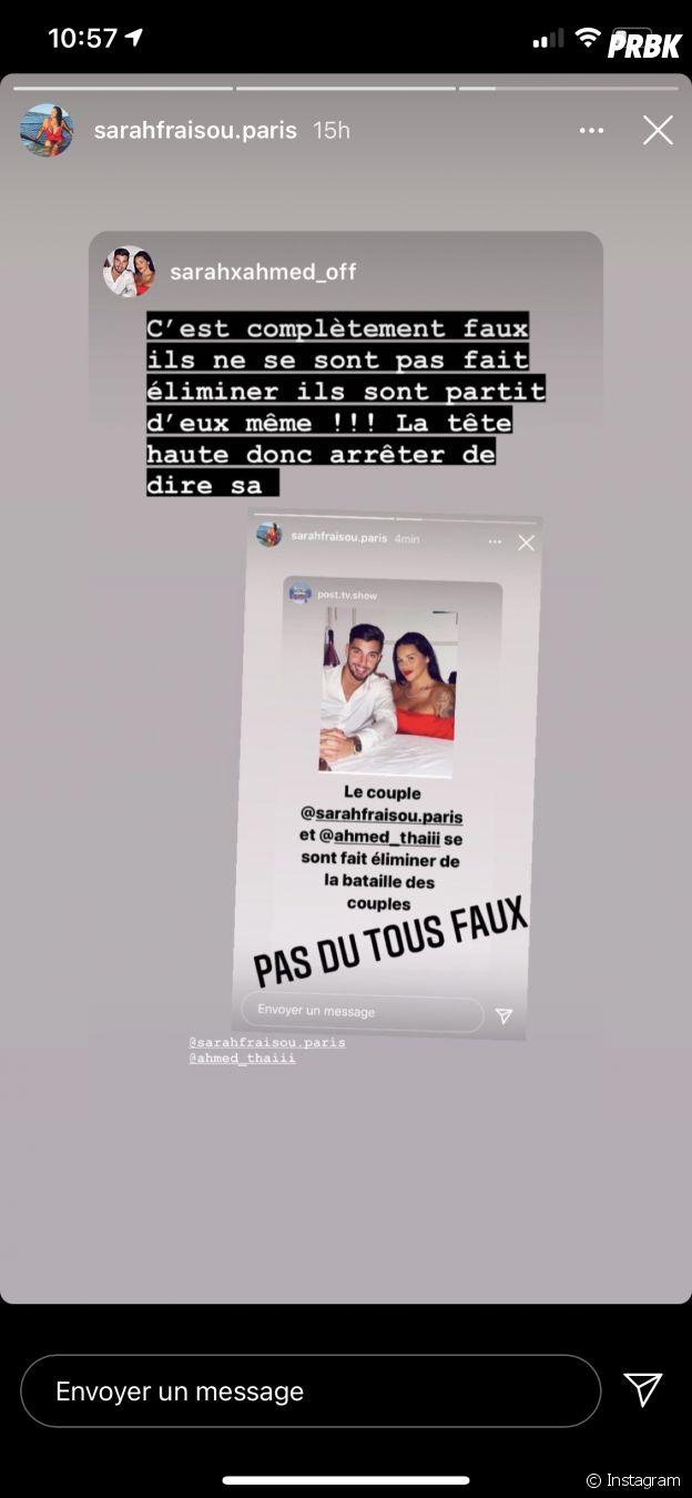 Sarah Fraisou et Ahmed éliminés de La Bataille des couples 3 ? Ils démentent