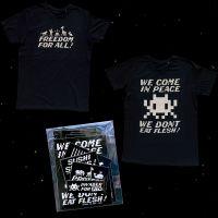 Invader x PETA : la collab de tee-shirts engagée qui se veut antispéciste