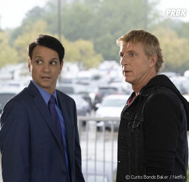 Cobra Kai : Daniel (Ralph Macchio) et Johnny (Willima Zabka) dans la saison 3
