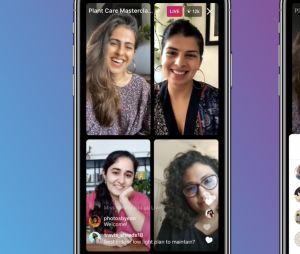 Instagram lance des Live Rooms, des lives jusqu'à 4 personnes