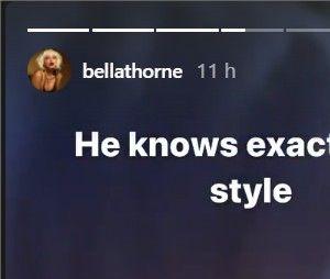 Bella Thorne dévoile sa bague de fiançailles en gros plan