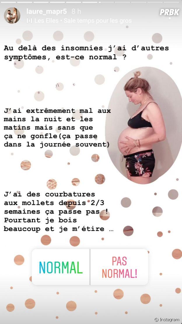 Mariés au premier regard 2021 : Laure enceinte de Matthieu, elle s'inquiète à cause de plusieurs symptômes en fin de grossesse et demande l'avis des internautes