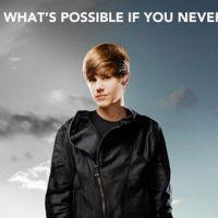 Justin Bieber en France en février 2011 pour son film ... il l'a annoncé sur Twitter