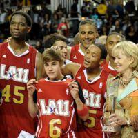 PHOTOS ... Justin Bieber a joué au basket avec des stars