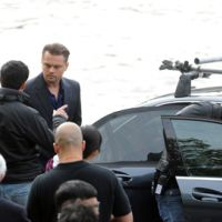 Leonardo DiCaprio ... PHOTOS ... à Paris hier pour le tournage d'une pub