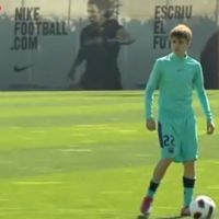 Justin Bieber ''baby'' footballeur au Barça (Vidéo)