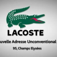 Lacoste ... de retour sur les Champs Elysées (vidéo)