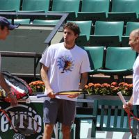 Roland Garros 2011 à J-3 ... Photos de Maria Sharapova, Roger Federer et les français à l'entraînement