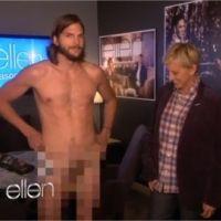 Ashton Kutcher nu pour la promo de Mon Oncle Charlie : gros buzz en vue (VIDEO)
