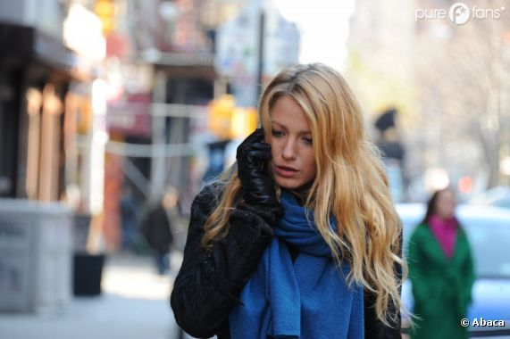 Blake Lively sur le tournage de Gossip Girl