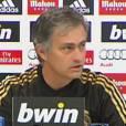 José Mourinho en conférence de presse avant le match Real Madrid - FC Barcelone du 18 janvier 2012.