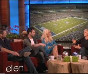 Trois des membres de The Voice sur le plateau au Ellen DeGeneres' Show