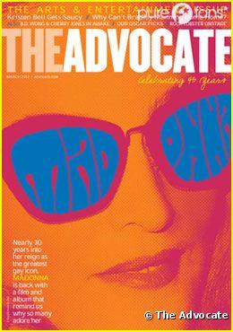 Madonna en couverture de The Advocate