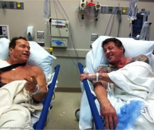 Sylvester Stallone et Arnold Schwarzenegger direction le bloc opératoire