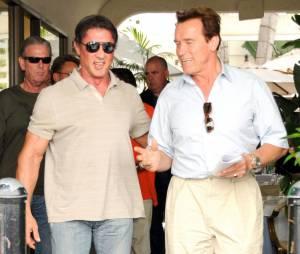 Arnold et Sylvester, deux grands potes