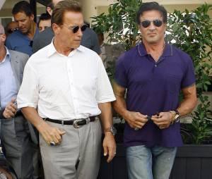 Arnold Schwarzenegger et Sylvester Stallone en sortie à LA